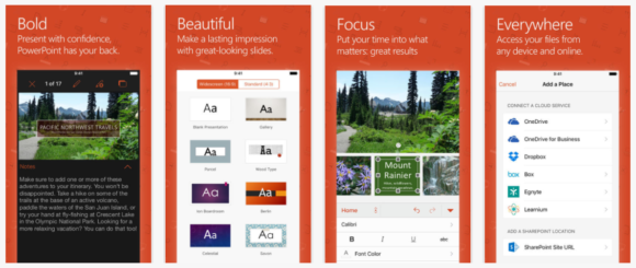 Apple -- PowerPoint App - iTunes - Cover - FreePowerPointTemplates