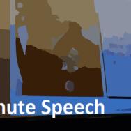 Black Slide -- 5 Minute Speech - Featured - FreePowerPointTemplates