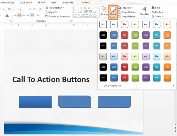 Call To Action -- Quick Style - FreePowerPointTemplates