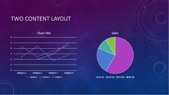 Celestial PowerPoint Template - Charts --- FreePowerPointTemplates