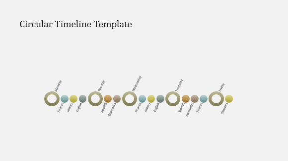 Circular Timeline Template for PowerPoint Online 0