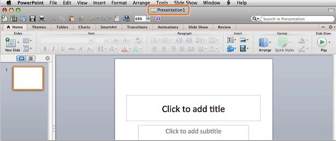 Create New Blank Presentation in PowerPoint 2011 for Mac 4