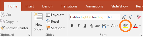 Features in PowerPoint -- Highlight Text - FreePowerPointTemplates