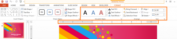 Formatting - PowerPoint 2013 - Ribbon - Format - Text Formatting Tools - FreePowerPointTemplates