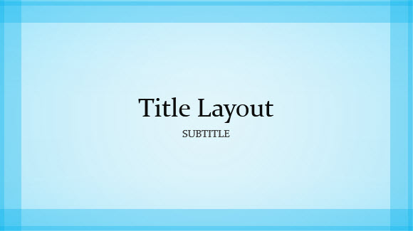 Free Blue Border Template for PowerPoint Online 1