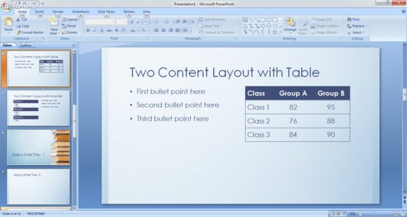 Free BookStack PowerPoint Template 4