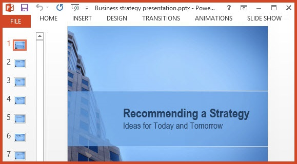 Free Business Strategy Ppt Template Free Powerpoint Templates