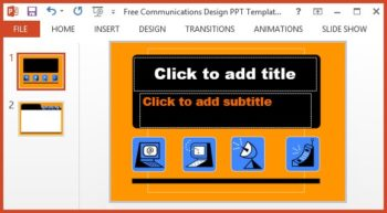Free Communications Design PPT Template -- Featured - FreePowerPointTemplates