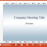 Free Company Meeting PowerPoint Template -- Featured - FreePowerPointTemplates