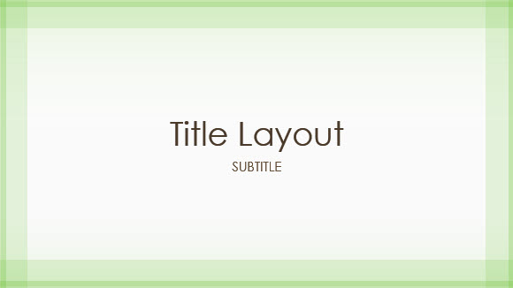 Free Green Border Template for PowerPoint Online 1