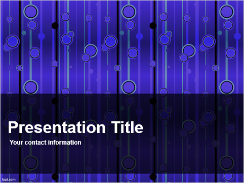 Free Purple and Blue Circles Pattern Template -- Cover - 1 - FreePowerPointTemplates