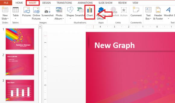 Graph - Insert - Chart - FreePowerPointTemplates