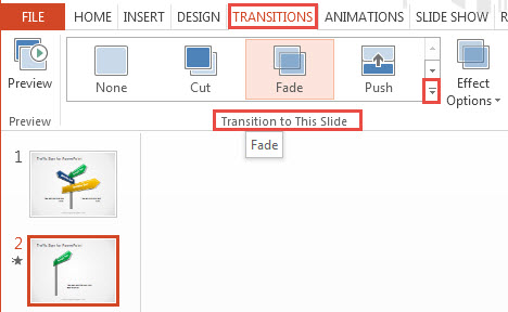How To Apply Transition Effects in PowerPoint 2013 1