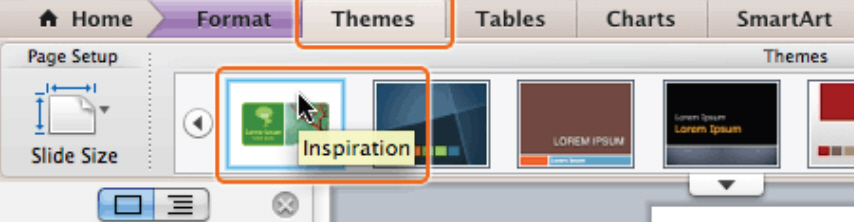 How To Apply a Theme and Layout in PowerPoint 2011 for Mac 1