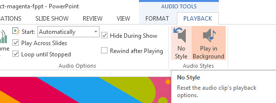 How To Insert Audio in PowerPoint 2013 3