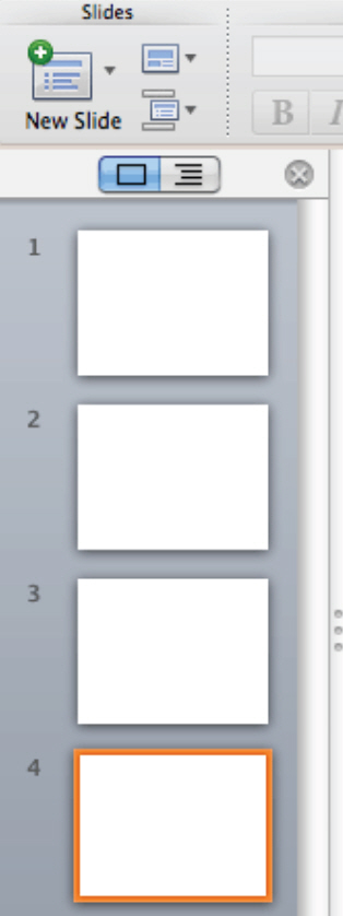 How To Insert Slides in PowerPoint 2011 for Mac 4