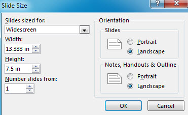 How to Change Page Setup in PowerPoint 2013 3
