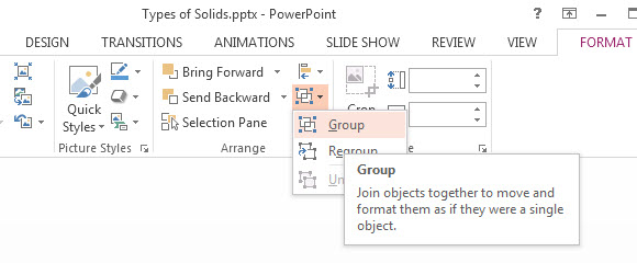 How to Group Objects in PowerPoint 2013 3