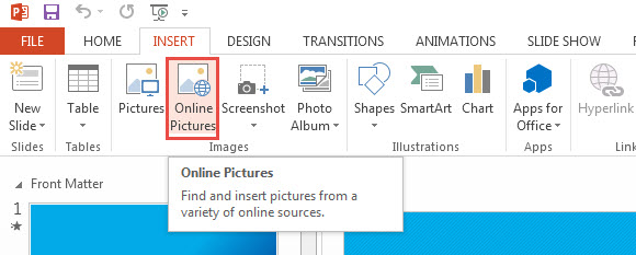 Insert Clip Art in PowerPoint 2013 0