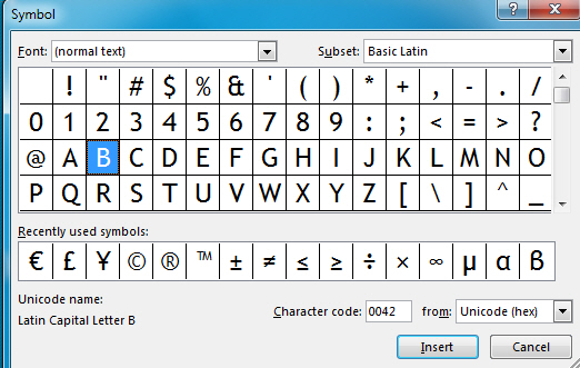 Insert Symbols and Equations in PowerPoint 2013 12