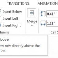 Insert or Delete Rows and Columns in PowerPoint 2013 1