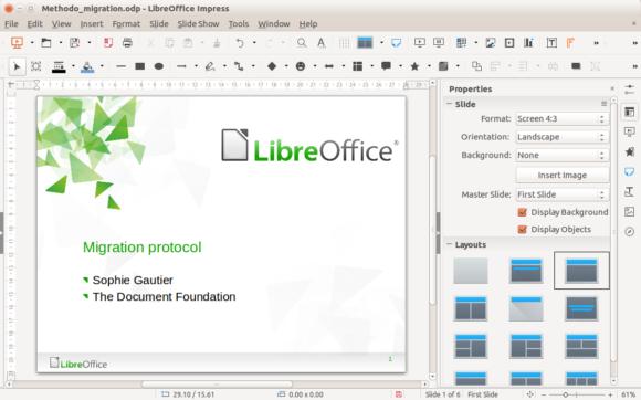 LibreOffice -- Impress - Screenshot - FreePowerPointTemplates