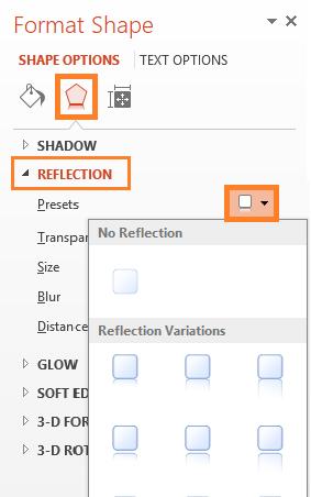 Mirror Effect -- Text - HOME - WordArt - Effects - Reflection - 7 - FreePowerPointTemplates