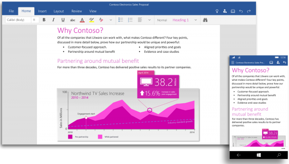 Office for Windows 10 Preview 1