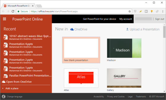 how to make a powerpoint presentation in a web browser online