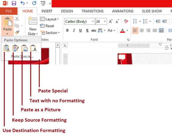 Paste Options -- Paste Options Summary - 2 - FreePowerPointTemplates