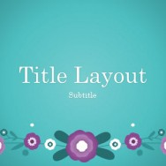 Purple Flowers Template for PowerPoint Online 1