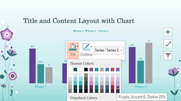 Purple Flowers Template for PowerPoint Online 4