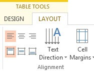 Select a Row Column or a Single Cell in PowerPoint 2013 1