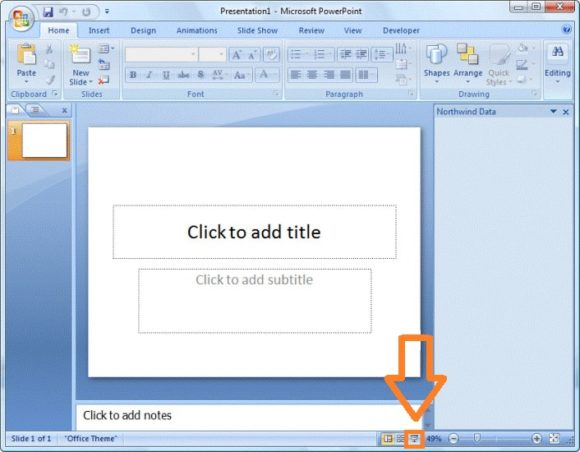 Slide Show -- Button - PowerPoint 2007 - FreePowerPointTemplates