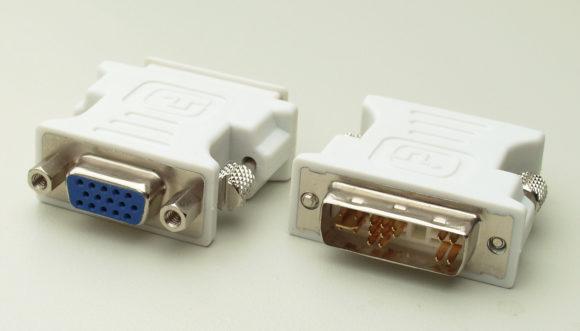 TV -- DVI to VGA adapter - FreePowerPointTemplates