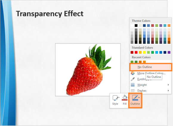 Transparency -- PowerPoint 2013 - Format Shape - 3 - FreePowerPointTemplates