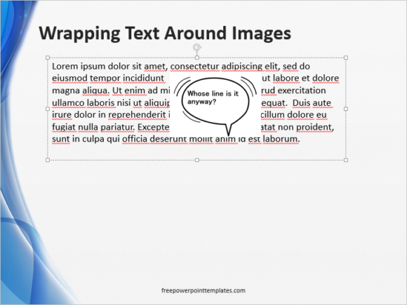 Wrap Text -- Spacebar and Shift - 2 - FreePowerPointTemplates